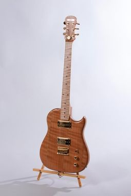Custom Made Quarter-Sawn Cherry Lincsonic Electric Guitar
