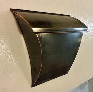 Custom Made Patina Copper Mailbox
