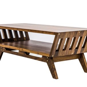 The April V2 Midcentury Modern Walnut Coffee Table By