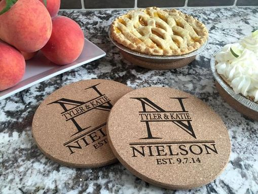 Custom Made Personalized Large Kitchen Hot Pads (Set Of 2)