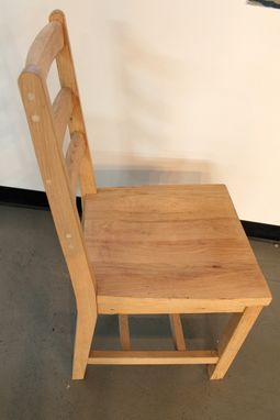 Custom Made Custom Oak Ladderback Chair