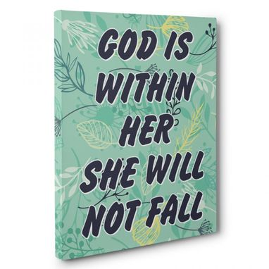 Custom Made God Is Within Canvas Wall Art