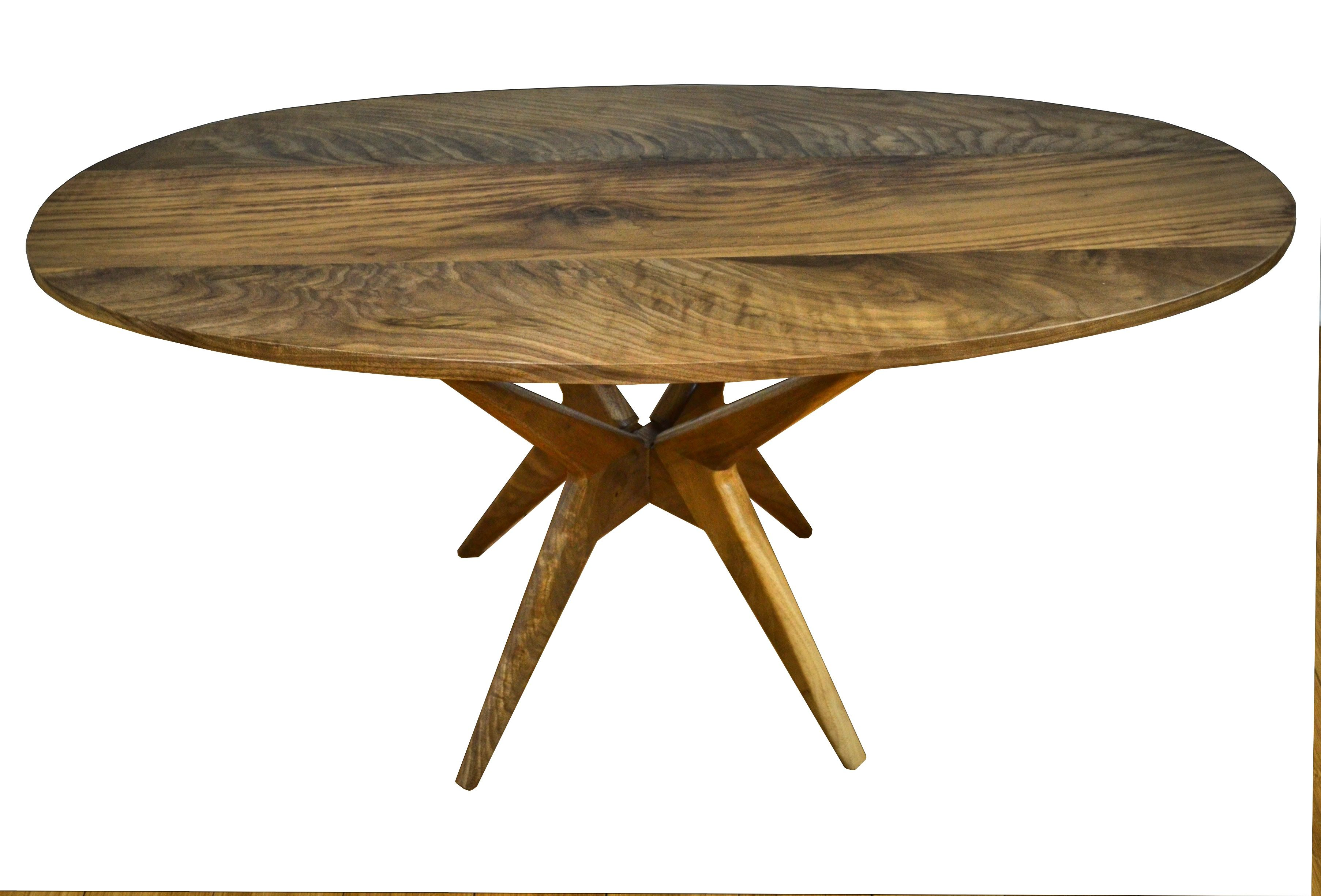 Hand Made Walnut Dining Table Modern Kitchen Table by Vermont