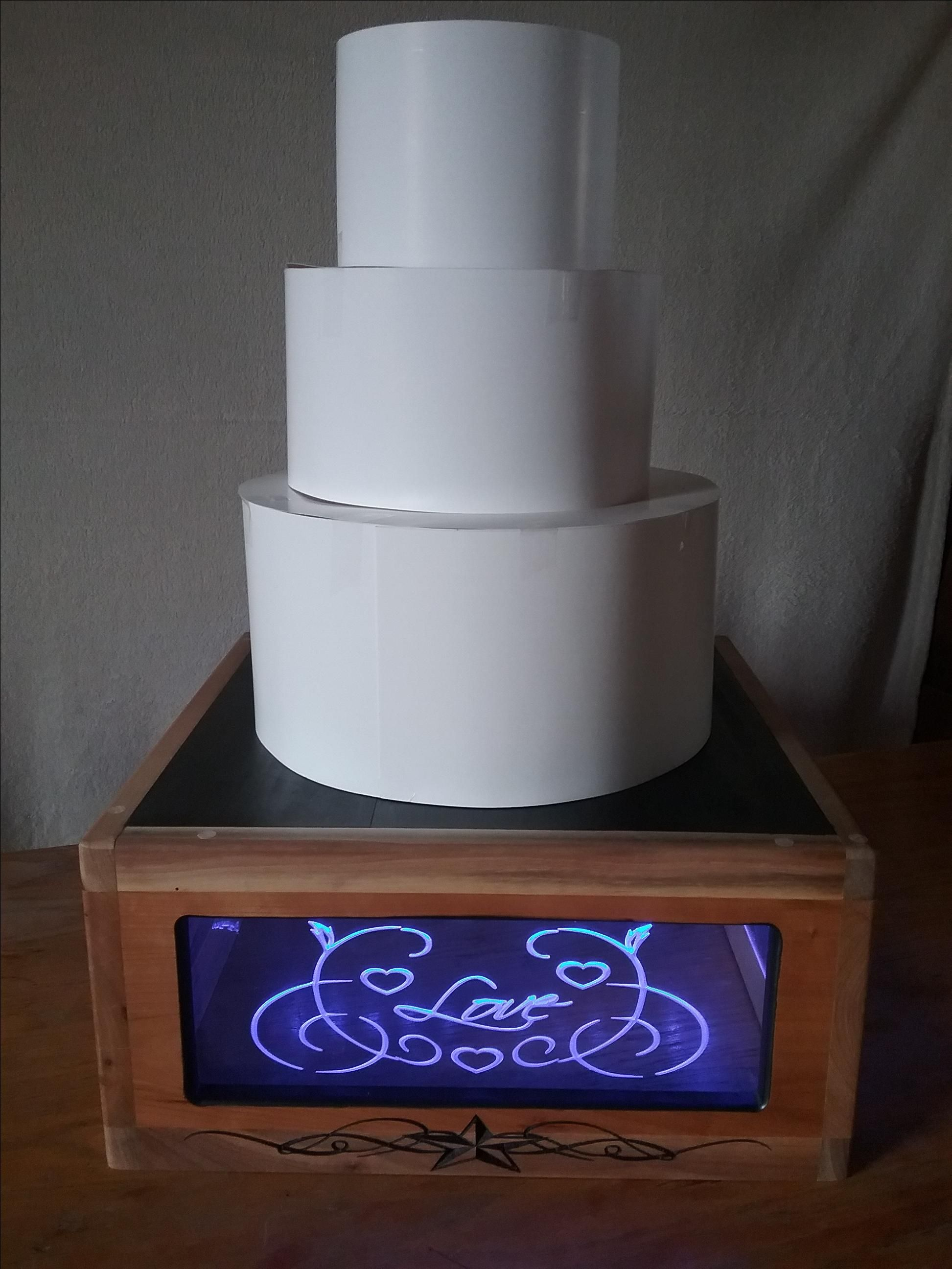 lighted wedding cake stands crafted wedding cake stand led lights by jag 16866