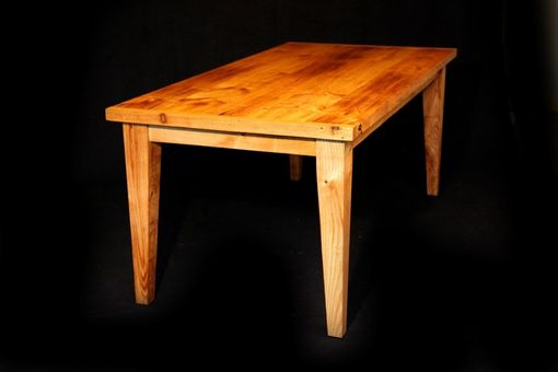 Custom Made Reclaimed Rustic Chestnut Framhouse Dining Table