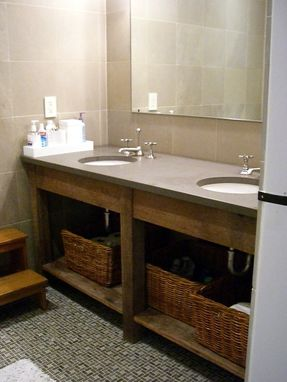 Custom Made Custom Bathroom Vanities All Using Recliamed Lumber