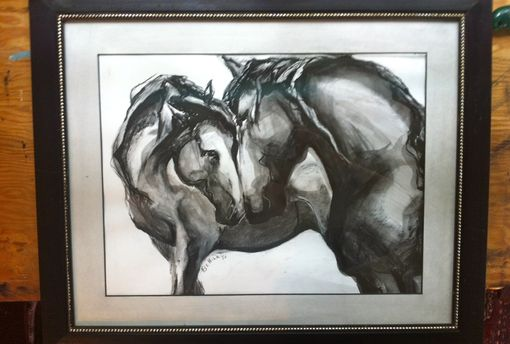 Custom Made Horses And Hearts Painting