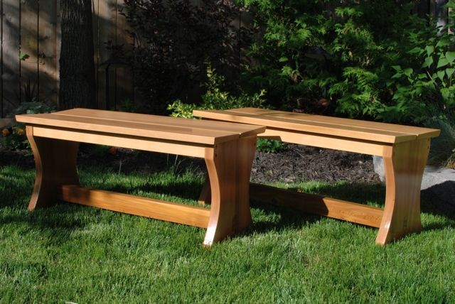 Custom Outdoor Cedar Garden Benches By Clark Wood Creations