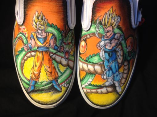 Custom Made Hand Drawn Dragon Ball Z Shoes