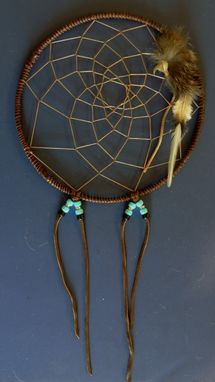 "Custom Made 9"" Dream Catcher - The Turkey Vulture Faith Totem Is Of Loyalty And Selfless Giving, Handmade Native Decor"