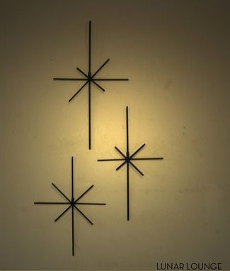 Custom Made Star Burst Metal Wall Sculpture Art - Mid Century Modern