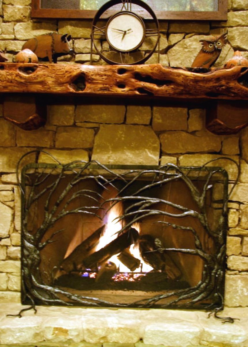 hand made fireplace screens by earth eagle forge llc custommade com