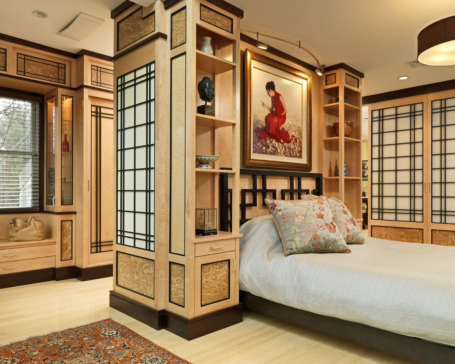 A Japanese Inspired Apartment With Plenty Storage Systems: Handmade Custom Asian Bedroom By Michael Humphries