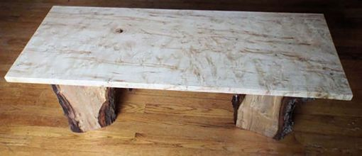 Custom Made Live Edge Ambrosia Maple Coffee Table