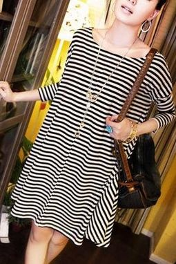 Custom Made Striped Tunic Dress