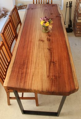 Custom Made Live Edge Dining Tables (Redwood Featured) With Steel Legs