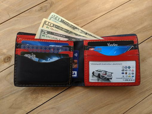 Custom Made One Hundred-Dollar Bill, 100 Bank Note, Men's 3d Genuine Leather Wallet And Belt