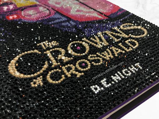 Custom Made Bling Hardover Book Crystallized Cover Art With Swarovski Crystals Bedazzled Reading Novel