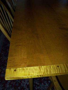 Custom Made Tiger Maple Table