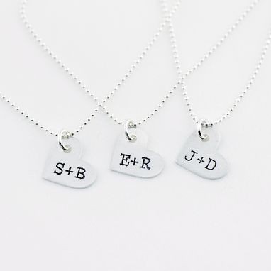 Custom Made Lover's Heart+Initials Necklace