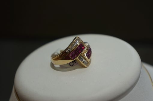 Custom Made Ruby Wrap Band