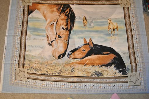 Custom Made Panel Lap Quilts - Baby Horse