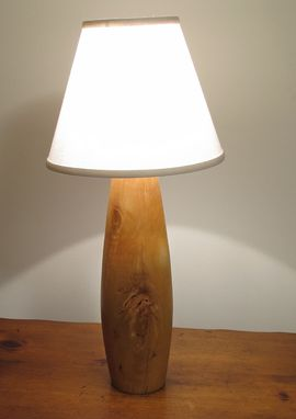 Custom Made Solid Wood Table Turned Lamp