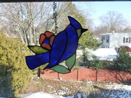 Custom Made Colorful Stained Glass Birds