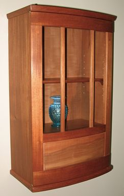Custom Made Bow Front Wall Cabinet