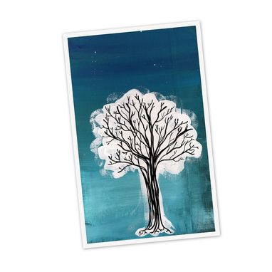 Custom Made White Black Tree- Cyber Monday / Black Friday