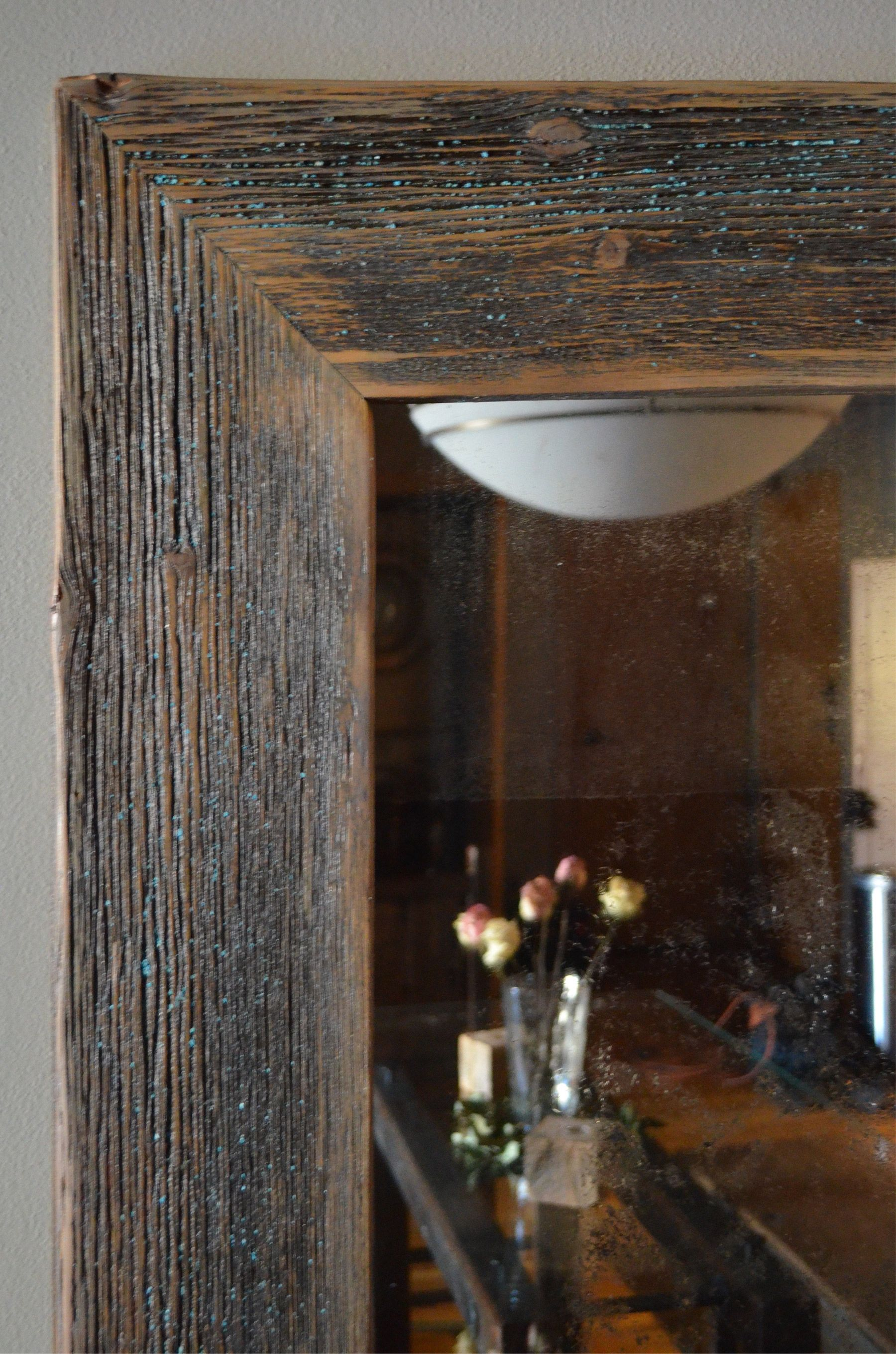 Custom Rustic Wood Mirror Frame By Abodeacious