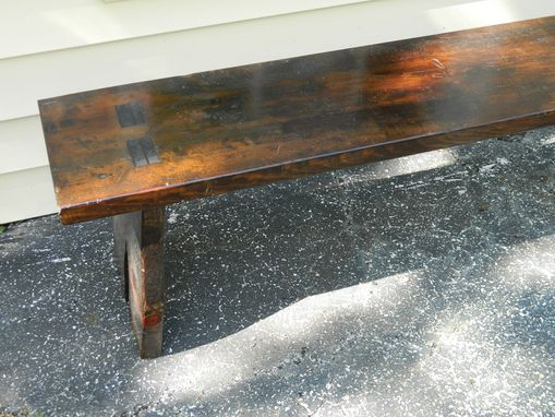 Custom Made Rustic Bench