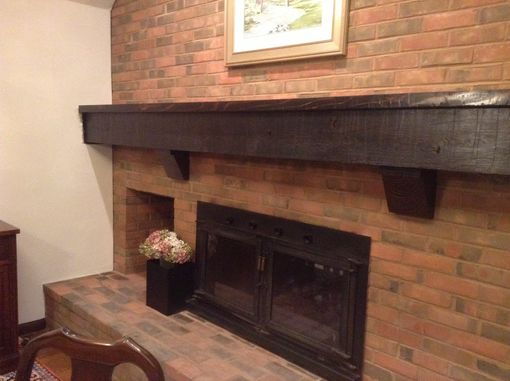 Custom Made Rustic Beam Mantel