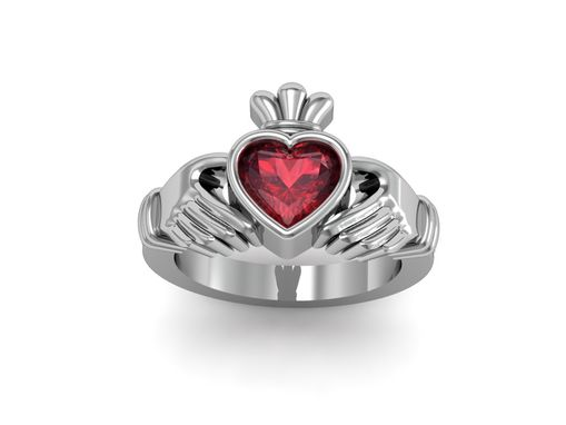 Custom Made Jewelry/Ring/Irish Celtic Claddagh Ring/Engagement Ring/Cocktail Ring/Valentine Ring