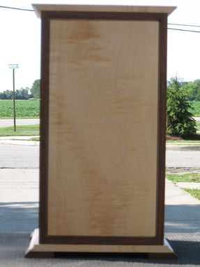 Custom Made Custom Walnut And Figure Maple Jewerly Cabinet