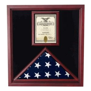 Custom Made Flag And Document Case - Vertical 8 1/2 X 11 Document`