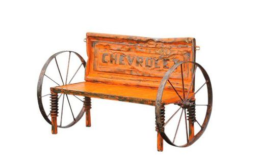 Custom Made Truck Bench - Car Part Furniture