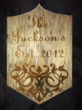 Custom Made Custom Engraved Front Door Name Plaque