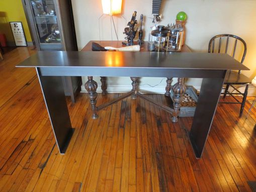 Custom Made Console – Industrial Modern Steel Plate