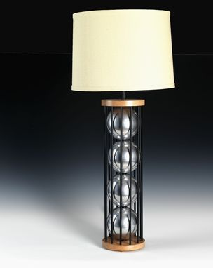 Custom Made Steel 12 Table Lamp