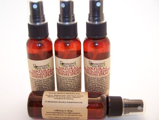 Custom Made Natural Handmade Antimicrobial Thieves 2 Oz. Travel Spray