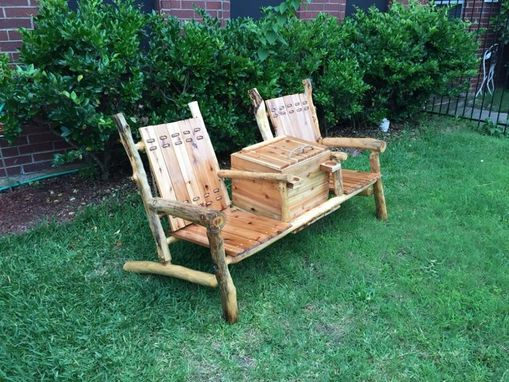Custom Made Outdoor Bench W/ Built-In Cooler/Console