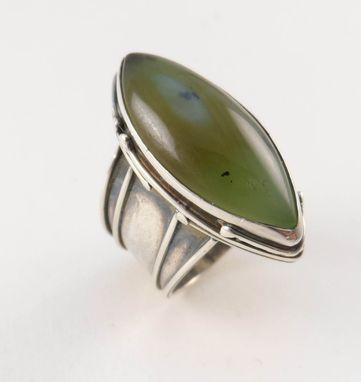 Custom Made Siberian Jade Sterling Ring