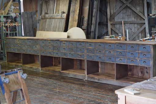 Custom Made Custom Built Dining Buffet (7'-20') Made From Reclaimed Wood