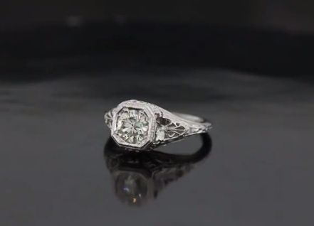 Custom Made Antique Inspired Engagement Ring