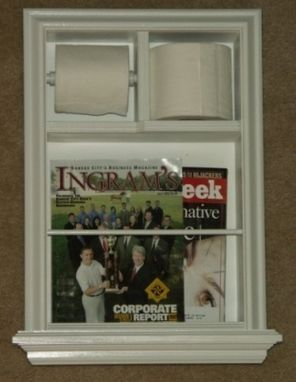 Custom Made Mr-4 In-The-Wall Magazine Rack Tp Combo Ii Unit