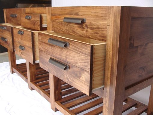 Custom Made The Alpine Vanity - Industrial Double Sink Bathroom Vanity On Sale