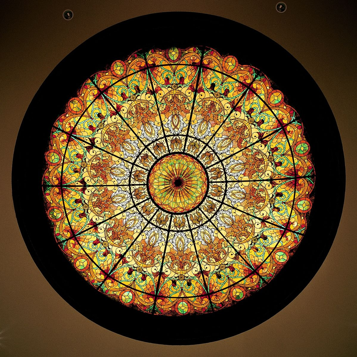 Hand Made Stained Glass Dome Ceiling 16 39 X 4 39 In Hand