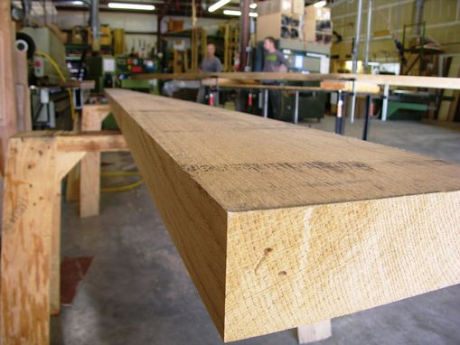 Custom Made Rift White Oak Slab Bench