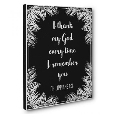 Custom Made Thank My God Canvas Wall Art